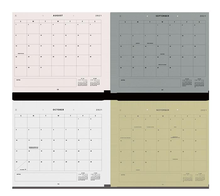 appointed - studio calendar 17 mois - 2