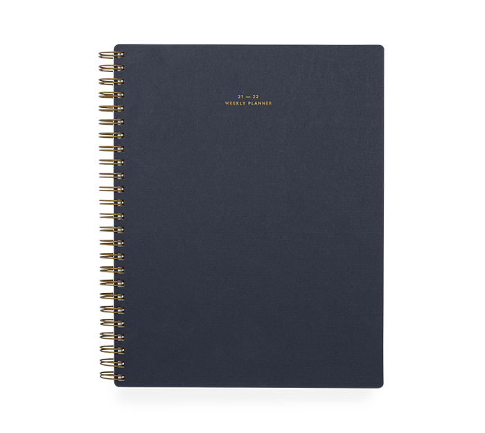 appointed - weekly planner 17 mois - oxford blue
