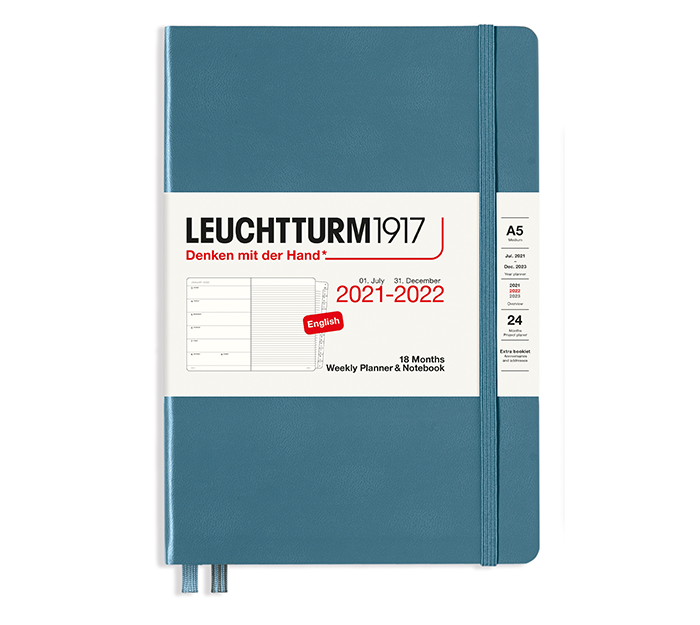 leuchtturm-agenda17mois2022-weekleft-stoneblue