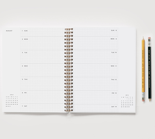 appointed - weekly planner 17 mois - layout 1