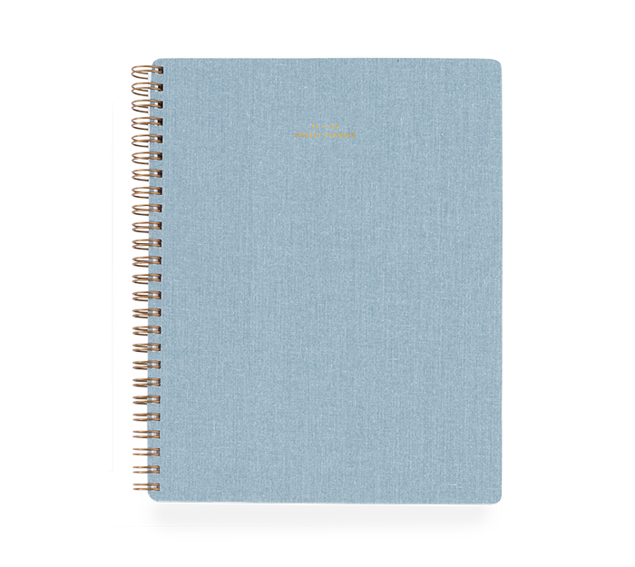 appointed - weekly planner 17 mois - chambray blue