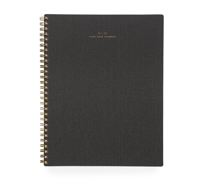 appointed - task planner academic - 2021-2022 - charcoal grey